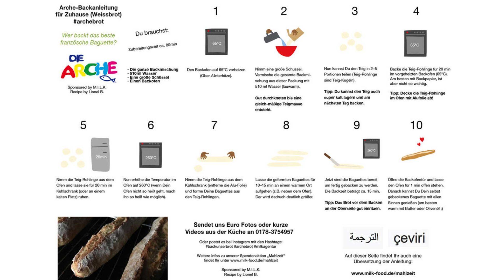 Aktion Mahlzeit. Unsere Anleitung für die Kids. So wird aus Mehl ein leckeres Baguette.