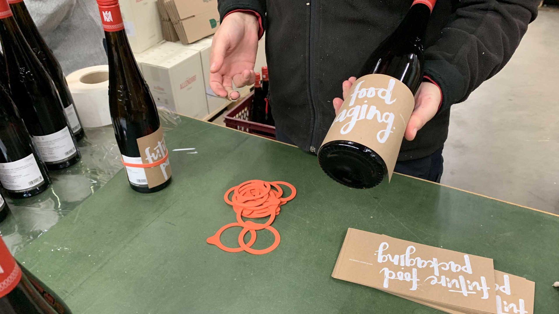 Etikettdesign und Flyerdesign für unseren neuen Wein