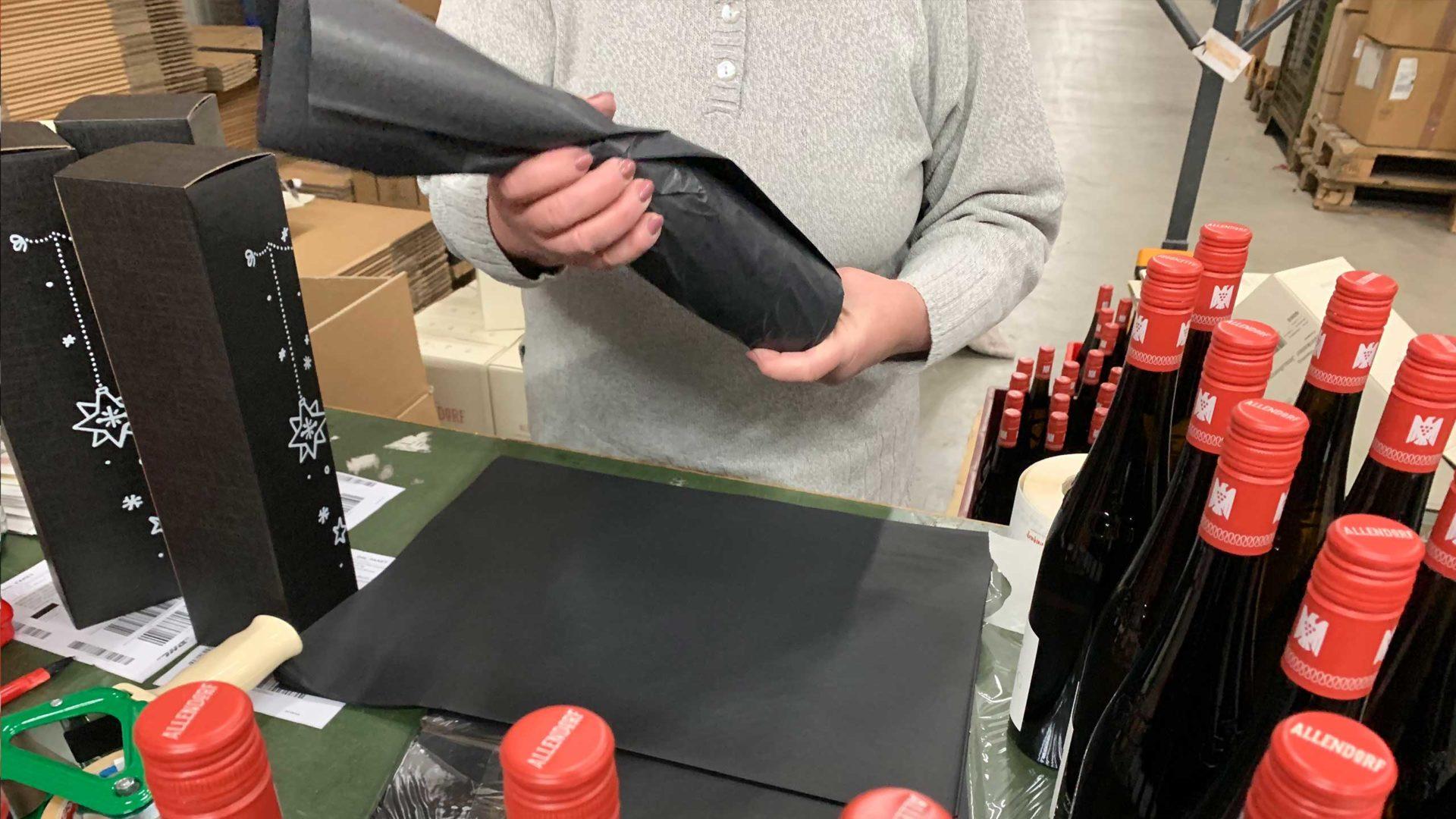 Etikettdesign für unseren neuen Wein