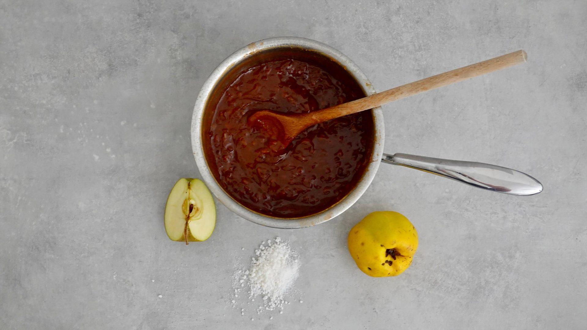 Marmelade im Topf