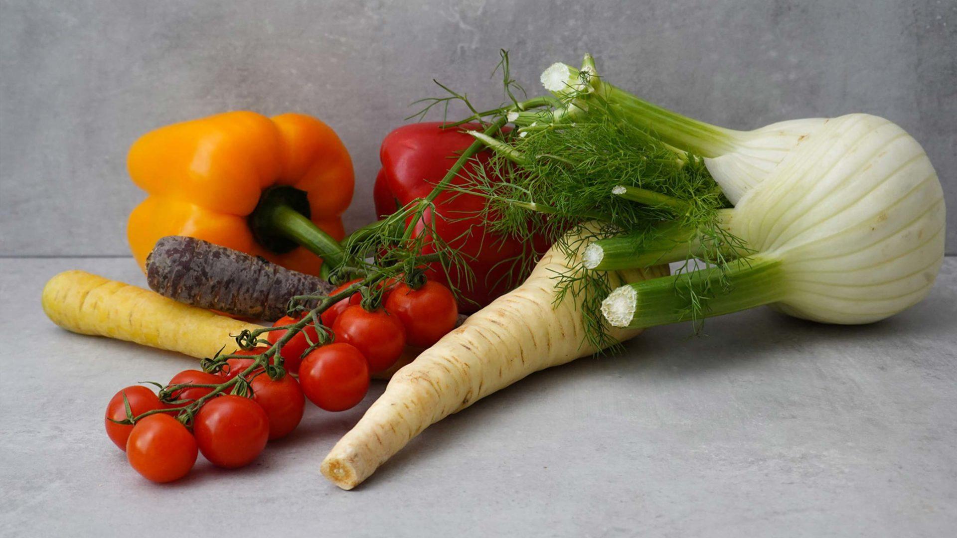 Frisches Gemüse ist die Grundlage für das Milk. Food Lab.