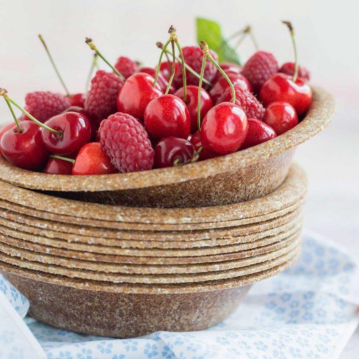 MILK MaterialLab Biotrem Geschirr aus Weizenkleie