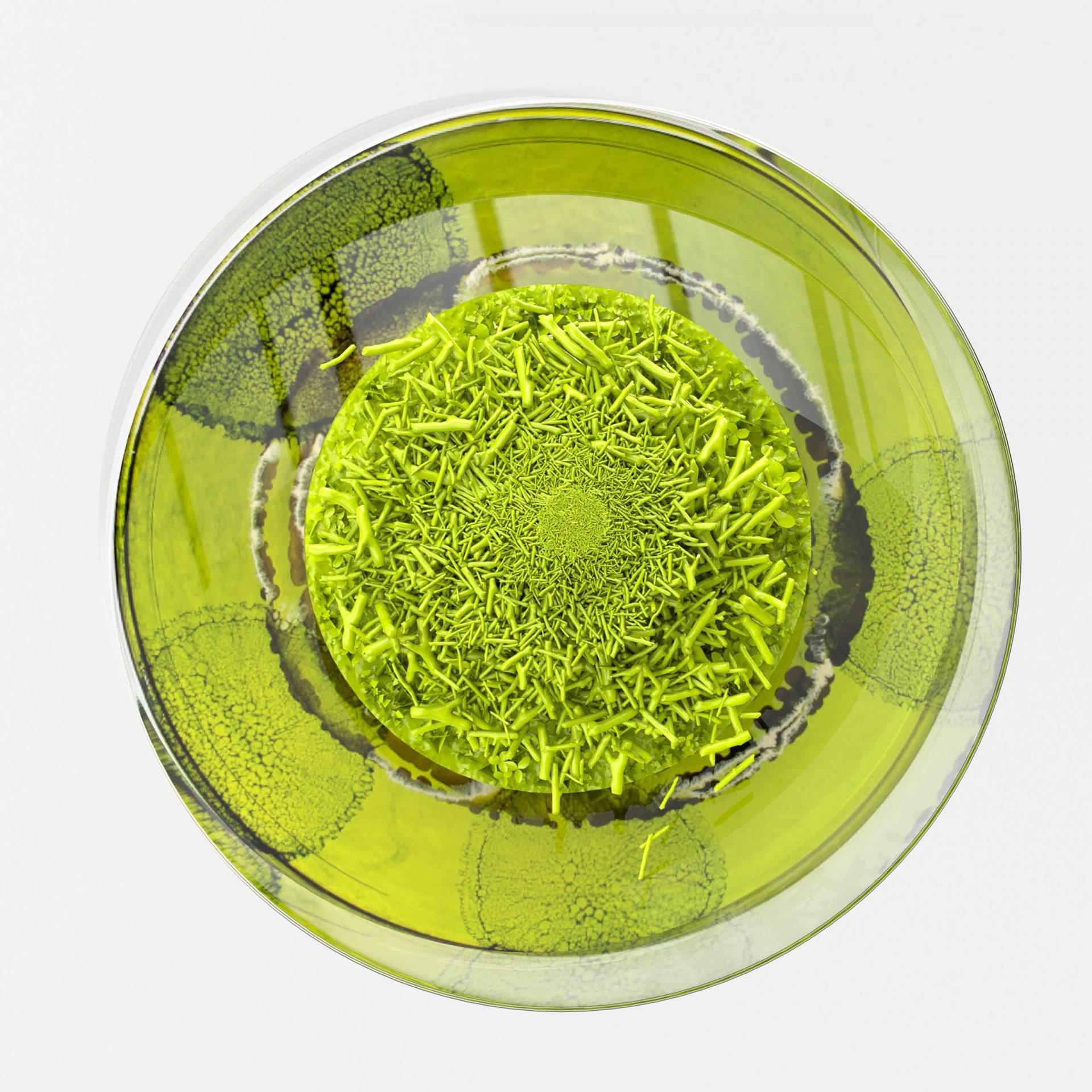 Ein modelliertes Fantasiebild von grüner Mikrobiologie