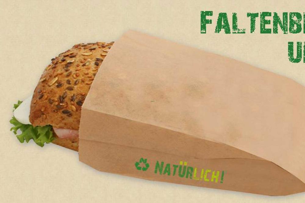 Neben umweltfreundlichen Verpackungen, wie dieser Bäckerei-Tüte, stellt Natürlich!Verpackungen auch Hygieneartikel her.