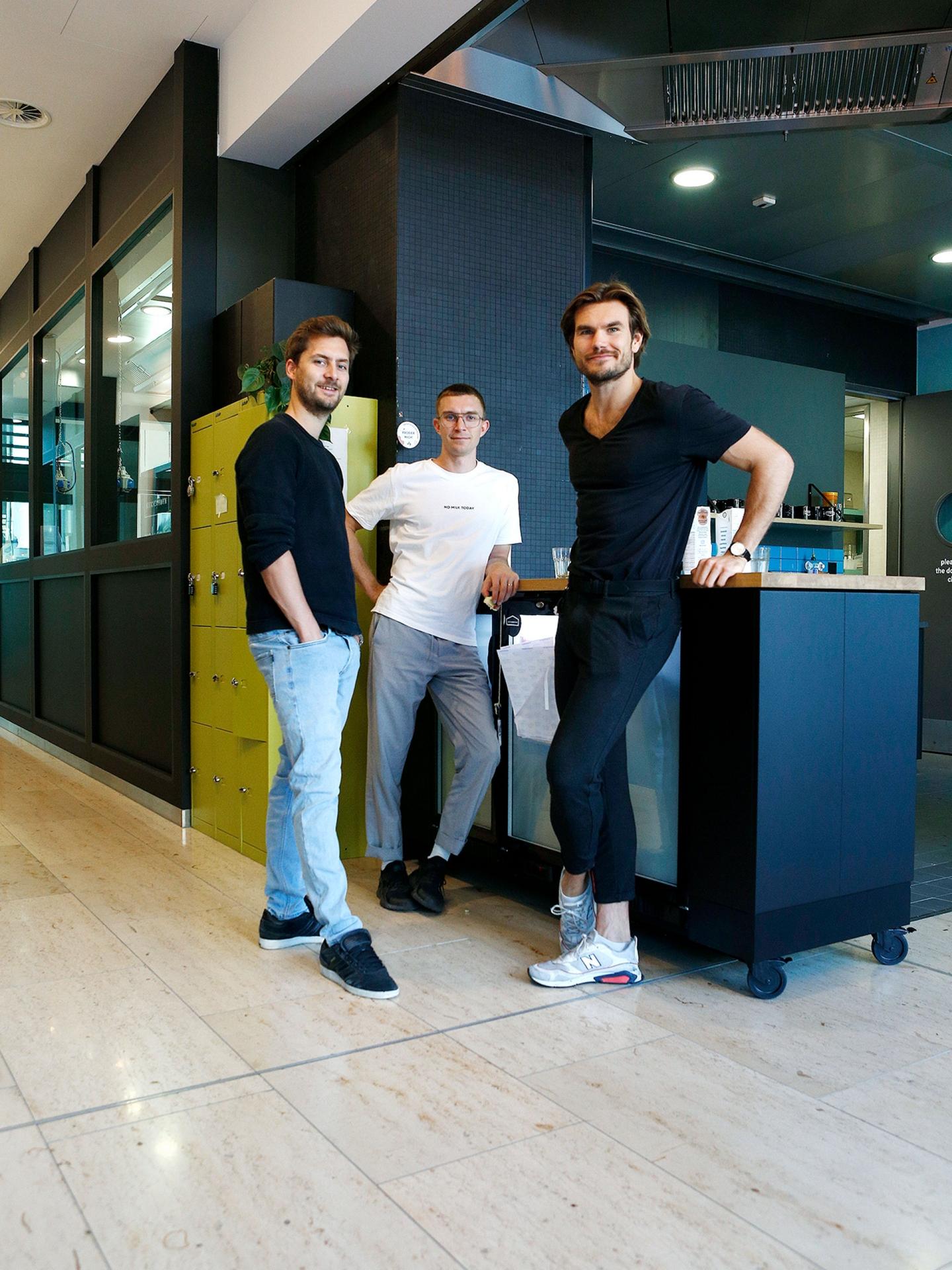 Die drei Gründer von vly: Niklas, Moritz und Nicolas